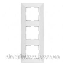 Рамка 3-а вертикальна біла VIKO Meridian