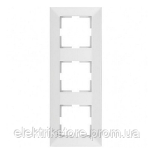 Рамка 3-ая вертикальная белая VIKO Meridian