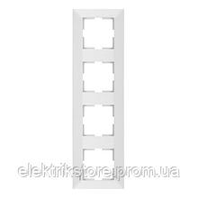 Рамка 4-ая вертикальная белая VIKO Meridian