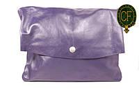(Beata) Итальянская кожаная сумка бакэтбэг BIW0-008 синий