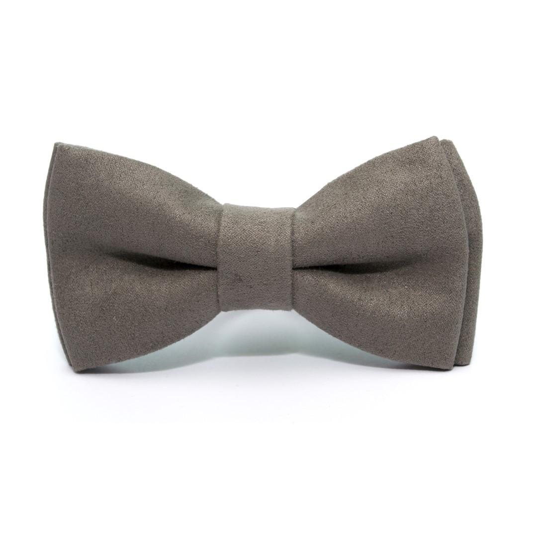 Краватка-метелик Gofin сірий замшевий AB-7202