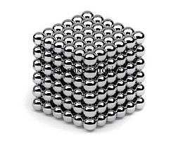 Головоломка Нео куб Neo Cube 4 мм Магнитный Серебристый Квадрат Тетракуб 216 шт.