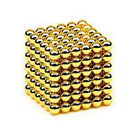 Головоломка Нео куб Neo Cube 5 мм Магнитный Золотой Квадрат Тетракуб 100 шт