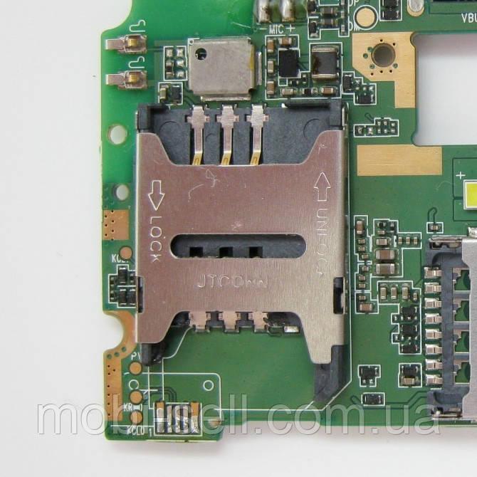 Lenovo A5000 коннектор карты SIM 1 (разъем, гнездо) (запчасти, Б/У, разборка)