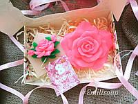 Сувенирный подарочный набор мыло ручной работы в форме роз. Подарок для девушки