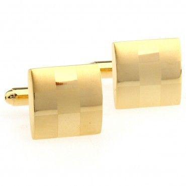 Запонки золотисті в квадратики ZPH-1104