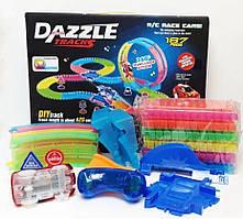 Гибкий гоночный трек Dazzle Tracks 187 деталей с пультом управления