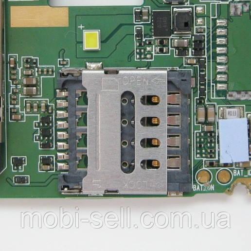 Lenovo A5000 коннектор карты SIM 2 (разъем, гнездо) (запчасти, Б/У, разборка)