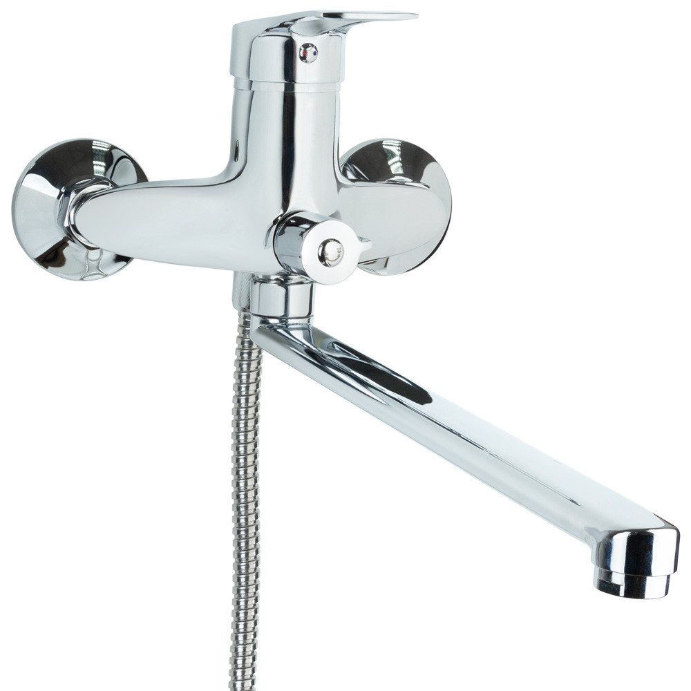 Смеситель SM Ø40 для ванны гусак прямой 350мм дивертор встроенный картриджный TAU (SM-2C244C)