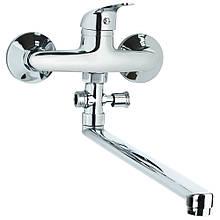 Смеситель TN Ø35 для ванны гусак прямой 350мм дивертор выносной картриджный TAU (TN-3C242C)