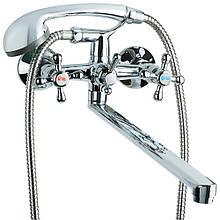 """Смеситель VD 1/2"""" для ванны гусак прямой 350мм дивертор встроенный шаровый TAU (VD-5C261C)"""