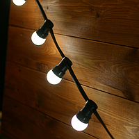 Уличная гирлянда 20 ламп Е27 10,50 м черная.