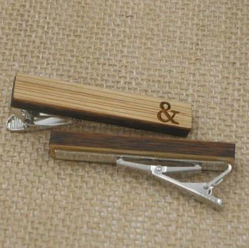 Дерев'яний затискач для краватки & ZAG-9024