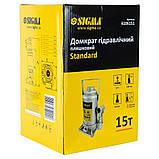 Домкрат гидравлический бутылочный 15т H 210-410мм Standard SIGMA (6106151), фото 4
