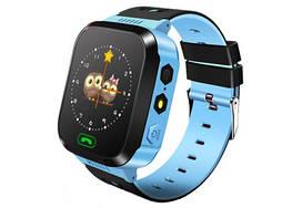 Детские наручные смарт часы с шагомером VIRINI Smart Baby Watch F1 Original Plus Голубой