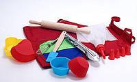 Кондитерский набор для выпечки силиконовая форма для кондитерки детский для выпечки Молодой Повар 10