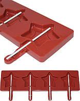 Кондитерская форма для приготовления кондитерки Hauser Звездочка для леденцов на палочке, силиконовый планшет