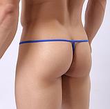 Прозрачные мужские стринги с рисунком, фото 5