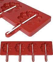 Кондитерская форма для приготовления кондитерки Hauser Ромашка для леденцов на палочке, силиконовый планшет