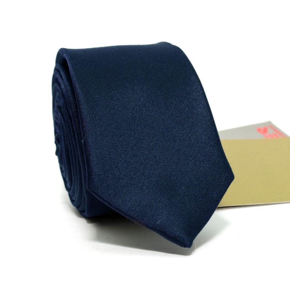 Краватка Вузька Темно-Синя GIN-2305