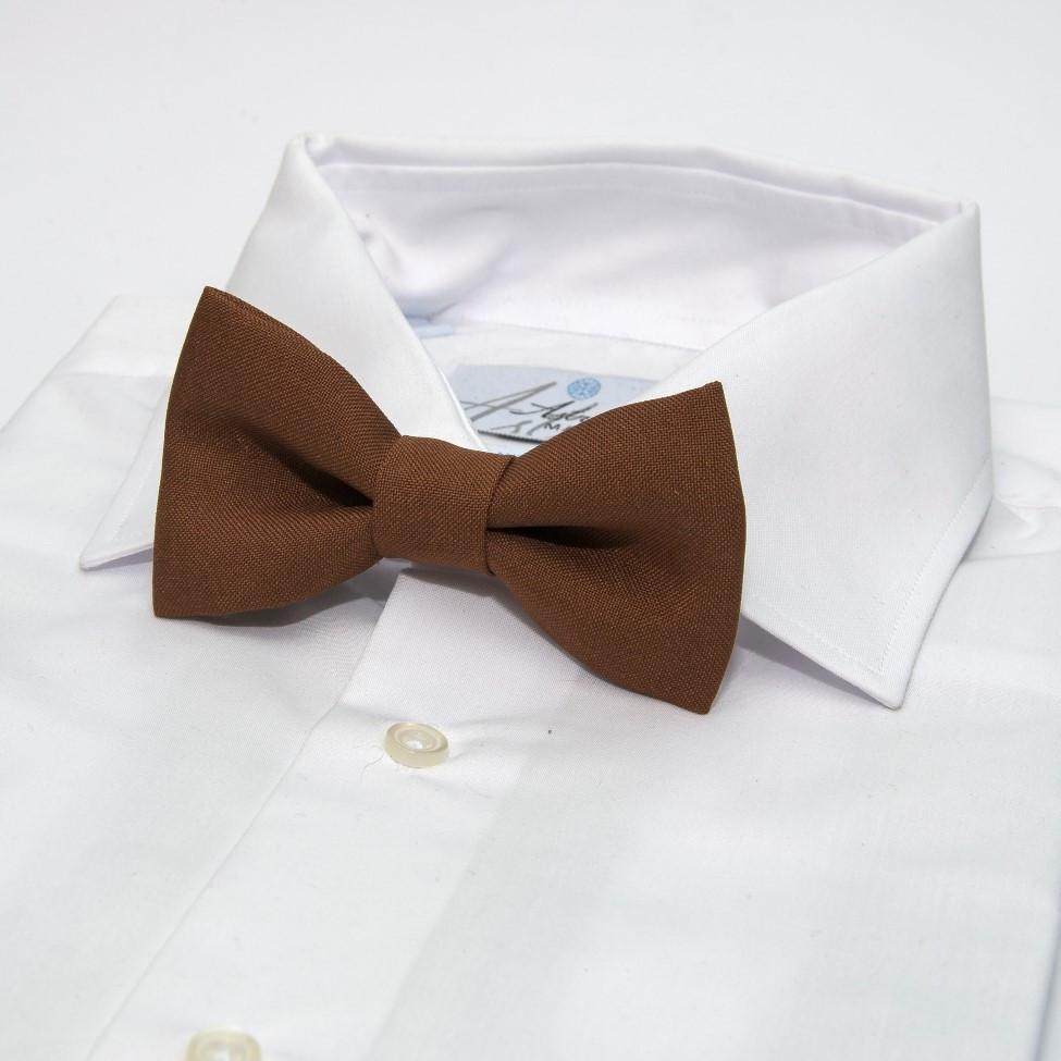 Краватка метелик Gofin коричневий однотонний GOF-1516