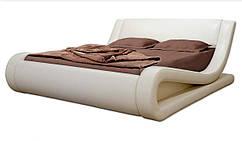Ліжко двоспальне 160х200 Флоранс, ортопедична еко шкіра, тканина, з коробом. Під замовлення
