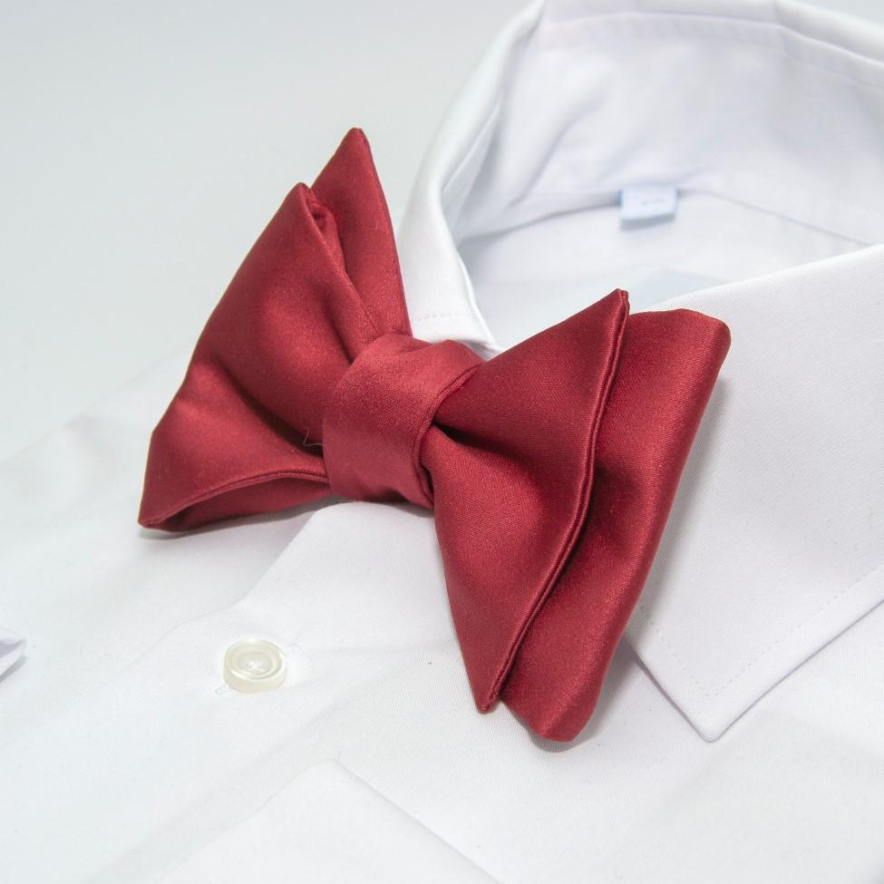 Краватка метелик самовяз бордовий однотонний GB-33-23