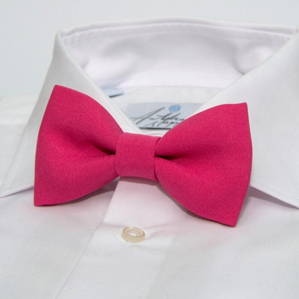 Краватка метелик Gofin малиновий однотонний GOF-1529