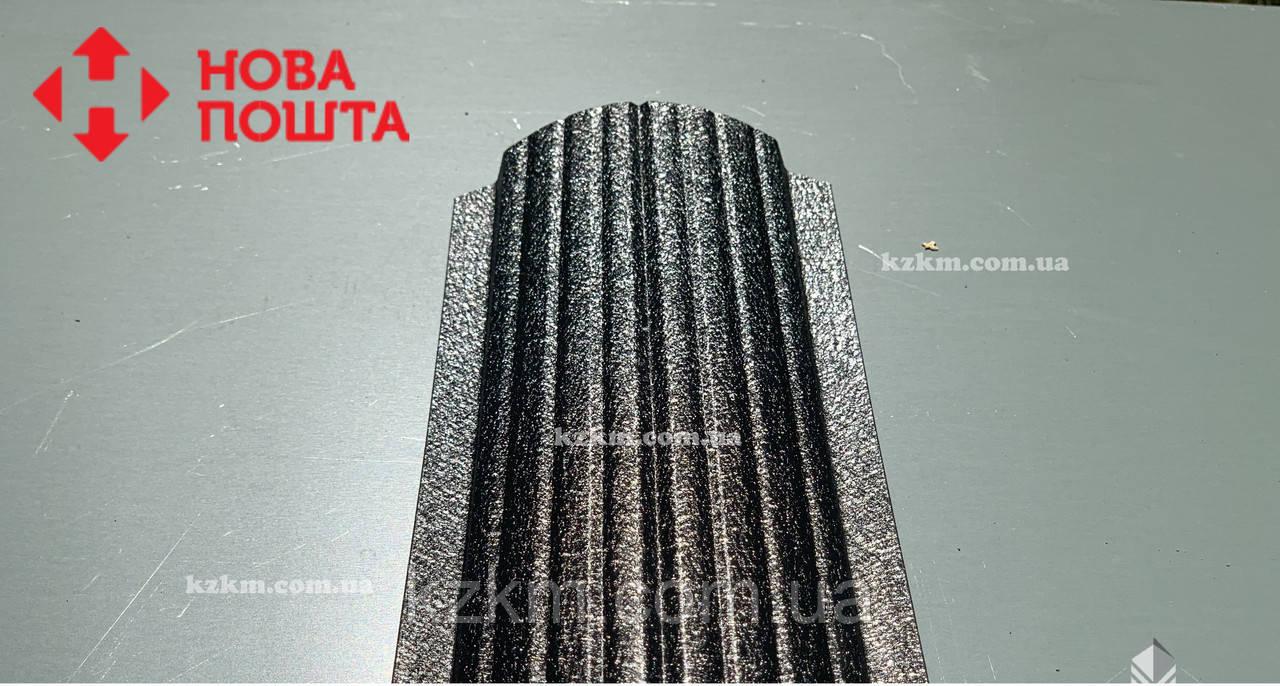 Штакетник матовый чёрный RAL 9005, штахет, евроштакет , забор из штакета, металлический черного цвета