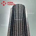 Штакетник матовый чёрный RAL 9005, штахет, евроштакет , забор из штакета, металлический черного цвета, фото 3