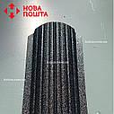 Штакетник матовый чёрный RAL 9005, штахет, евроштакет , забор из штакета, металлический черного цвета, фото 2