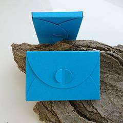 Подарунковий конверт-коробочка 60х90х8 мм з кольорового дизайнерського картону Атлантик