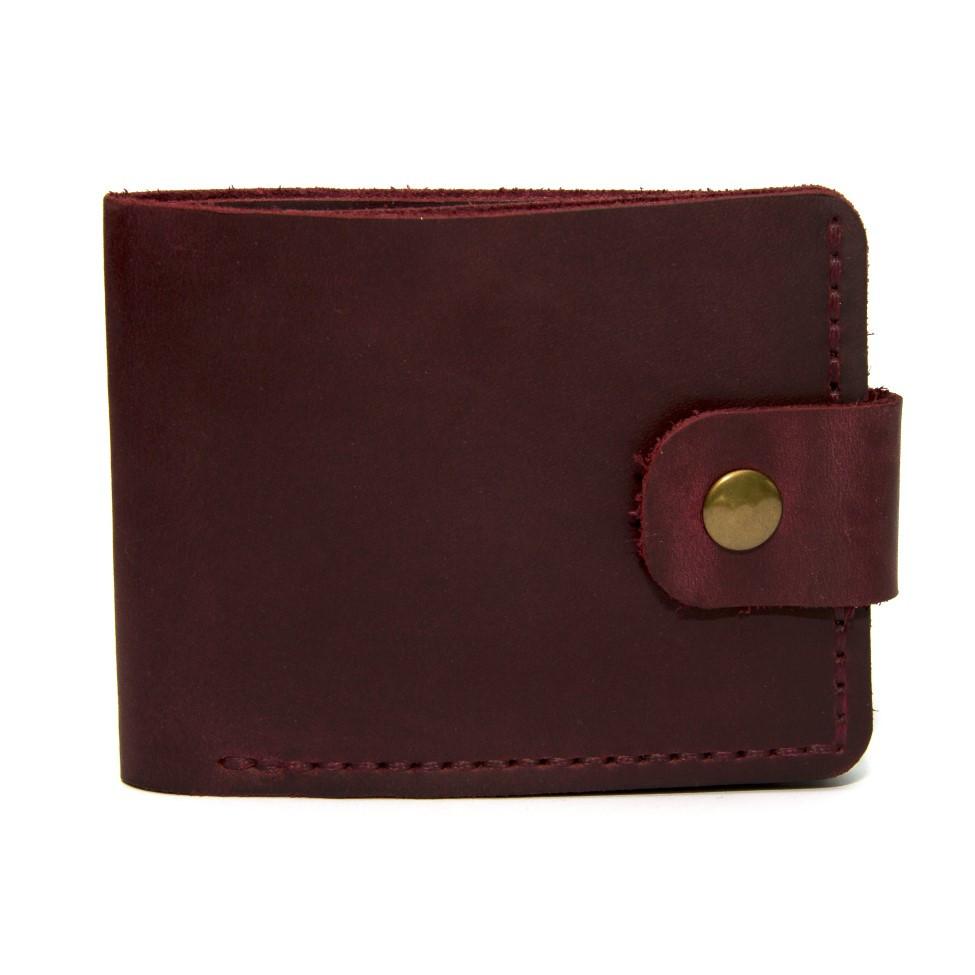 Бордовий шкіряний чоловічий гаманець Gofin SKG-10053