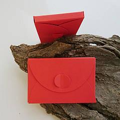 Подарунковий конверт-коробочка 60х90х8 мм з кольорового дизайнерського картону Чилі