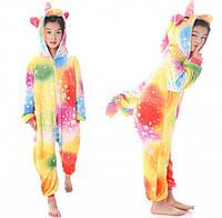 Детская пижама кигуруми Единорог Звездное настроение 130 см