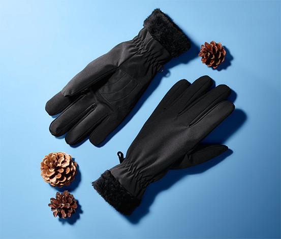 Теплые, непромокаемые перчатки софтшелл на плюше от tcm Tchibo (чибо), Германия, L