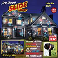 Новогодний лазерный проектор Star Shower Slide Show 12 Слайдов