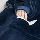 Плед толстовка двухсторонняя Huggle Hoodie халат с капюшоном и рукавами, фото 2