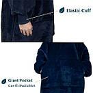 Плед толстовка двухсторонняя Huggle Hoodie халат с капюшоном и рукавами, фото 4