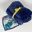Плед толстовка двухсторонняя Huggle Hoodie халат с капюшоном и рукавами, фото 10
