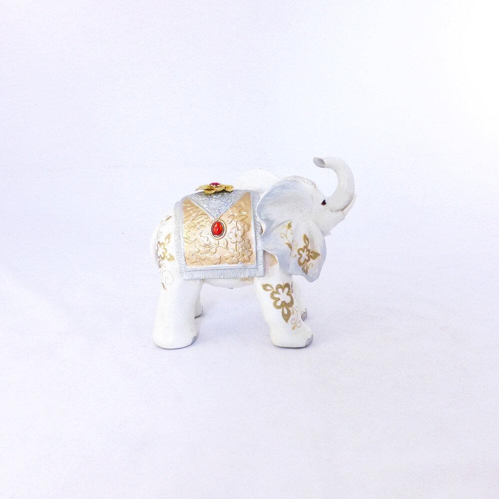 Статуэтка слоника с украшениями, хобот к верху 20 см Гранд Презент H2624-1N