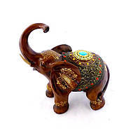 Статуэтка слона с украшениями, хобот к верху 30см Гранд Презент H2481-3T
