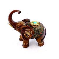 Статуетка слона з прикрасами, хобот до верху 30см H2481-3T