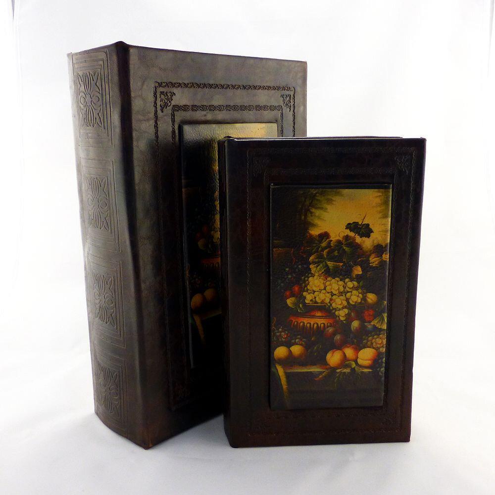Шкатулка-книга набір з 2х фрукти 22-KSH-XZ-PU09125A