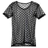 Мужская прозрачная футболка - ромб, фото 3
