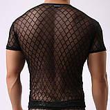 Мужская прозрачная футболка - ромб, фото 8