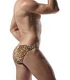 Леопардовые плавки с черной вставкой, фото 3