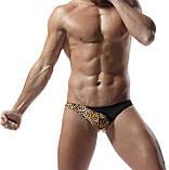 Леопардовые плавки с черной вставкой, фото 7