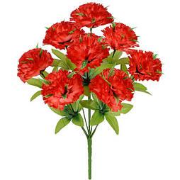 Искусственные цветы букет гвоздики с папоротником, 41 см (20 шт в уп)