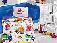 """Набор постельного белья в кроватку с бортиком и одеялом Cotton Box """"Şantiye"""""""